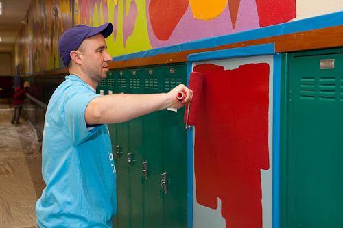Painting at James John Elementary