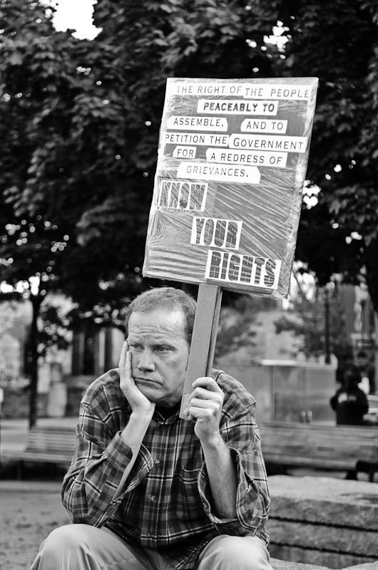 Occupy Portland Bored Protester