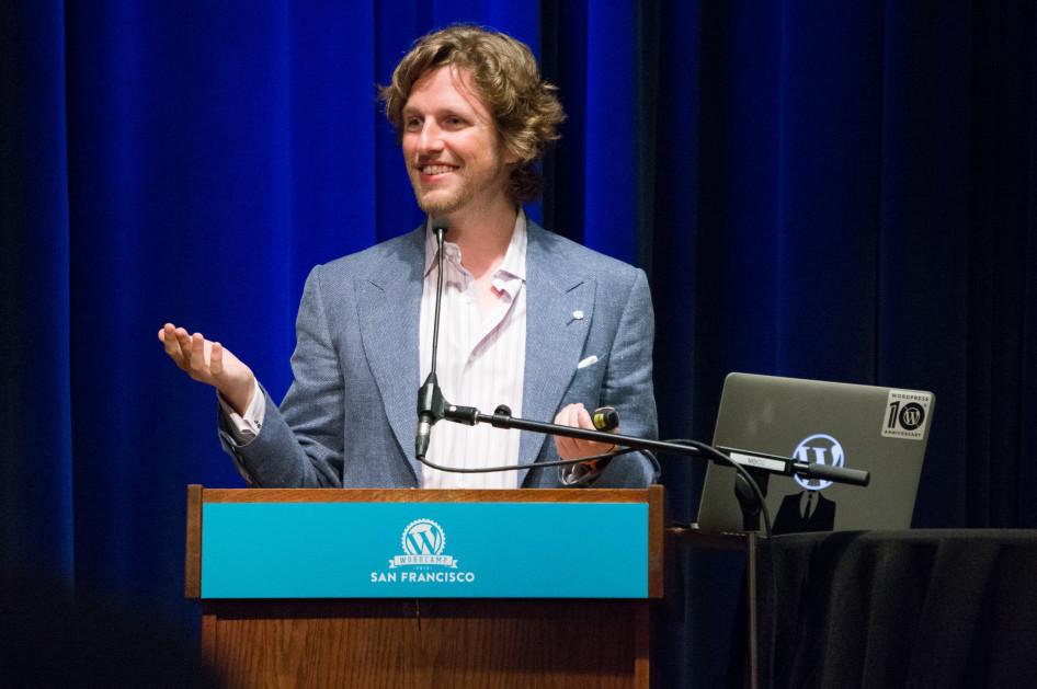 Matt Mullwenweg at WordCamp San Francisco